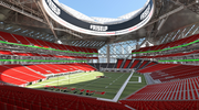 Interior view of seating bowl from west end zone