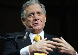 Leslie Moonves, president and chief executive officer of CBS Corp., speaks at a