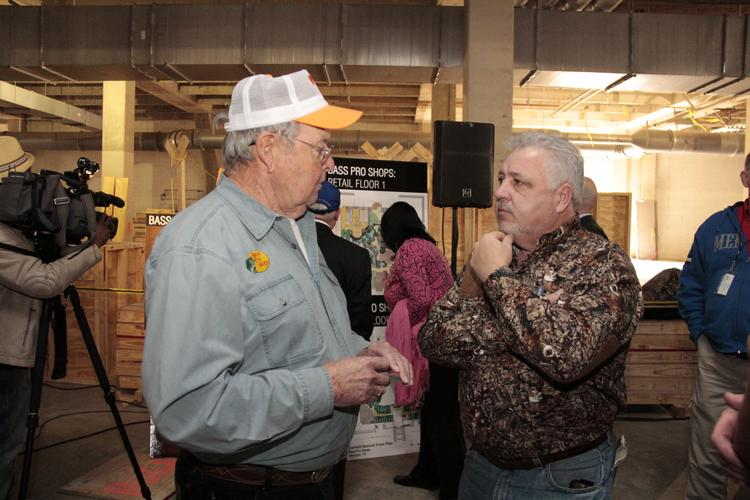 Fisherman Bill Dance with Shelby County Commissioner Terry Roland