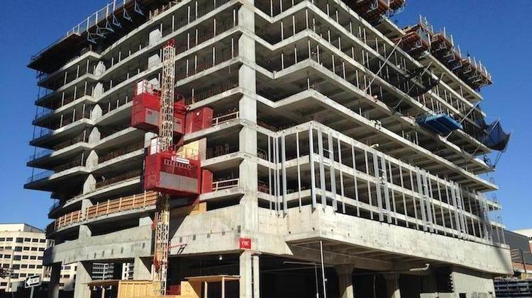 The Colorado Tower is under construction at 303 Colorado St.