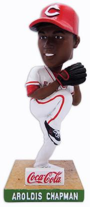 An Aroldis Chapman bobblehead will be given to fans on June 4.