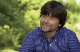 Documentary filmmaker Ken Burns poses at an undisclosed location in this undated photo released to the press on April 21, 2011.