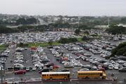 The parking lot at Aloha Stadium in Honolulu was packed during the Great Aloha Run.