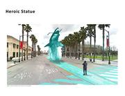 Special project, Santa Clara Street. While the shark is an arresting statue possibility, any variety of big, landmark objects would work here.