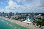 A view of the Paramount Fort Lauderdale Beach condo tower along A-1-A.