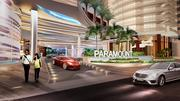 A rendering of the entrance of the Paramount Fort Lauderdale Beach condo tower.