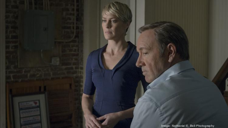 """Robin Wright and Kevin Spacey are pictured in a scene from the second season of Netflix's """"House of Cards."""" Spacey will meet with Maryland lawmakers in Annapolis to promote the show."""