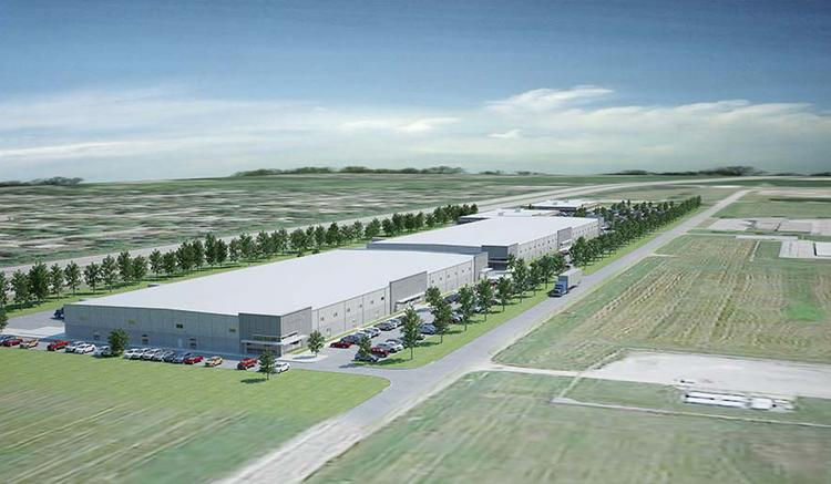 Daimler Group is planning to build a 100,000-square-foot flex office/industrial building, in foreground, near Port Columbus and next to a 130,000-square-foot light industrial building. Click on the following images for views of other buildings in the park and maps.