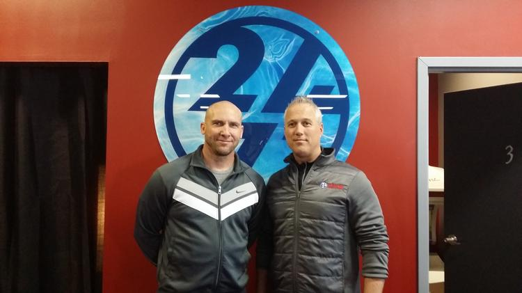 Greg Parker, franchise developer for Workout Anytime in Kentucky and Tennessee and Bobby Paisley, owner of Louisville's Workout Anytime franchise, plan to open another gym in the Louisville area.