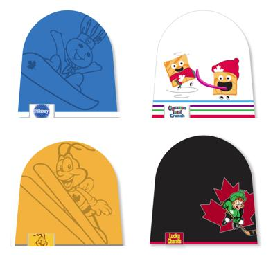 General Mills Canada gave away free toques to promote its sponsorship of the 2014 Sochi Winter Olympics.
