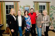 Amy Grant and Vince Gill hosted the American Heart Association Heart Gala Patron Party in their home on January 28.  From left: Sheila Shields, Nelson Shields, Amy Grant, Vince Gill, Dick Miller and Sharalena Miller