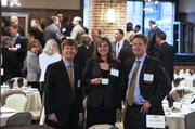 Left to right are Jerry Walters of Littler Mendelson, Debbie Edney of Parker Poe Adams & Bernstein and Steve Dellinger, Littler Mendelson