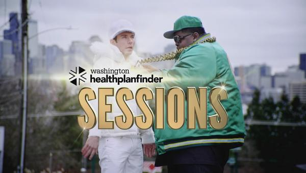 The rap duo featured in the latest ads promoting the Washington state Healthplanfinder.