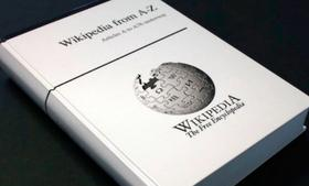 PediaPress hopes to print the contents of Wikipedia in roughly 1,000 volumes similar to this one.
