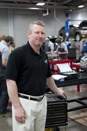 Joe Myers, shown here, is the training coordinator for the Jefferson Community and Technical College's Toyota T-TEN program.