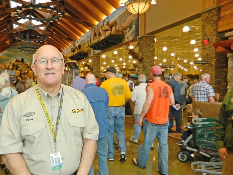 Cabela's CEO Tommy Millner has joined Best Buy's board of directors. He's pictured here at a Cabela's store opening in Louisville, Ky., earlier this year.