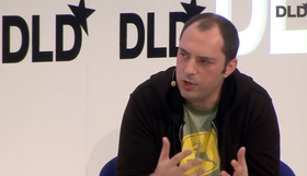 Jan Koum, co-founder and CEO of WhatsApp, at the DLD 14 conference in Munich, Germany.