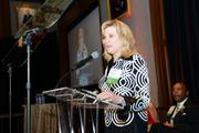 Catherine Cahill, President & CEO, The Mann Center for the Performing Arts publicly acknowledges their Board Chair, Justin P. Klein, Ballard Spahr.