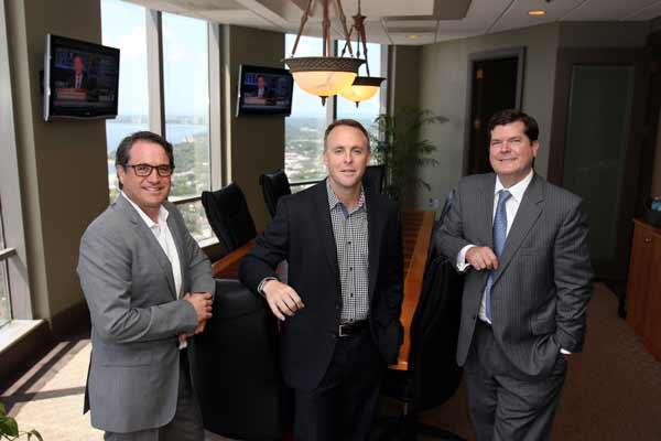 Skyway Advisors President Bryan Crino, CEO Scott Feuer and Managing Director Russell Hunt.