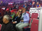 At the Austria vs. Norway ice hockey game on Feb. 15. The Austrians are very serious about their hockey.