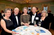 From left to right: Barbara and Dennis Buckley, Marilyn Knowles, and Dr. James Yankaskas and his wife Bonnie pose for a photo.
