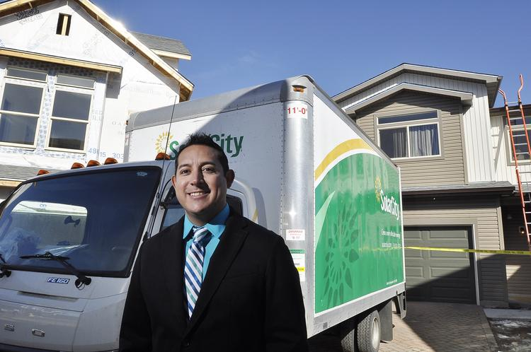 "Dwayne Montoya, Oakwood Homes regional sales manager, says, ""80 percent of our buyers have opted to move forward — they like the idea of having their home solar."""