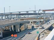 The LBJ Express project at the junction of Interstate 635 and Interstate 35E in Dallas includes new ramps for TEXpress lanes, which offer speedier commutes to drivers willing to pay a toll.
