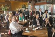 The crowd at Postino Winecafe in Phoenix on hand for the Business Journal's inaugural Inside the Reporter's Notebook event on Feb. 20.