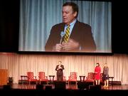 Arizona State University President Michael Crow was one of the speakers who welcome Take the Lead attendees.