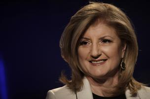 Arianna Huffington, co-founder of the Huffington Post, at the 2012 World Economic Forum (WEF) in Davos, Switzerland.