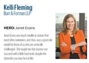 Fleming, 33, is attorney at Burr & Forman LLP, where nominators say she is one of the firm's brightest rising stars. With significant health care experience, she played an integral role in helping her client obtain state approval for the state's first freestanding emergency room.   Click here to read the full profile
