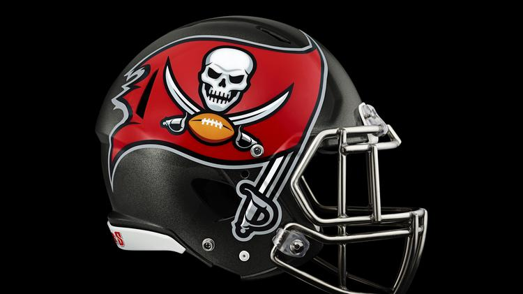 Tampa Bay Buccaneers' new helmet