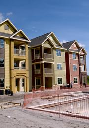 Construction is progressing at the Summerport apartment site in Windermere.