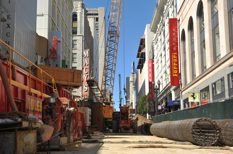 Construction of the $1.6 billion Central Subway extension through downtown San Francisco is expected to last eight years.