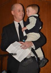 In a moving speech, father CT Shaw talks about living with a son, CT IV, who has cystic fibrosis.