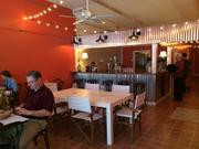 Early adopters: The lunchtime crowd at Corner Taco, which quietly opened its doors Wednesday.