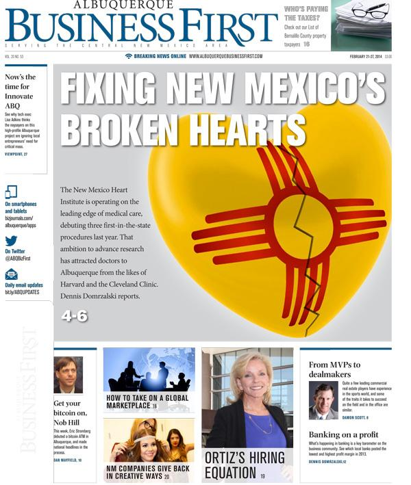 The New Mexico Heart Institute is operating on the leading edge of medical care, debuting three first-in-the-state procedures last year.