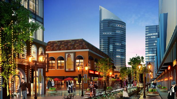 Renovations to Uptown Park will include new retail and multifamily construction.