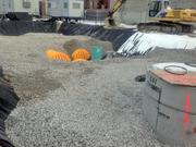 A hole at the site has been filled with gravel as part of the project.