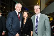 Dr. David Blandino, left; Patricia Liebman, COO, Allegheny Health Network; and Dr. Timothy Honkala