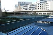 """The second floor hosts a """"green roof,"""" featuring drought-resistant, California native plants, as well as a collection system for heavy rains and can be seen from the south-facing units of the building."""