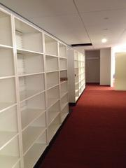 Reed Smith has reduced paper file space such as this one by 60 percent at Three Logan.