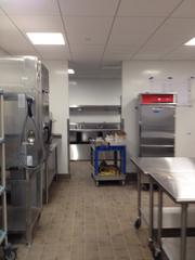 The kitchen for Reed Smith's cafeteria that will overlook the Benjamin Franklin Parkway and offer breakfast and lunch.