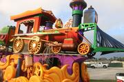 Check out the detail of the train. This is one of the three new floats featured at this year's Mardi Gras event.
