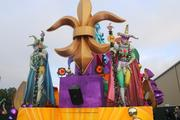 The revamped jester float. This is a mainstay at Universal Orlando's Mardi Gras parade.