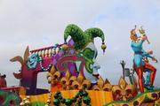 And here's another view of the jester float. It led the parade this year.