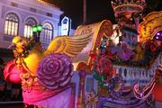 If vibrant and colorful were the theme for this year's Mardi Gras, check it off the list.