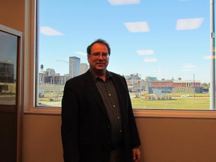 Ross McNutt, is president and CEO of Xenia-based Persistent Surveillance Systems, which developed an advanced camera system that can be mounted on an aircraft and track anything that happens in a 25-square-mile radius in real-time.