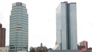 The Riverview Tower, left, and United America Plaza, Knoxville, Tenn., another of Bennett & Pless's projects.
