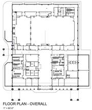 Here's the layout of the building, which will include activities, classroom and library space.